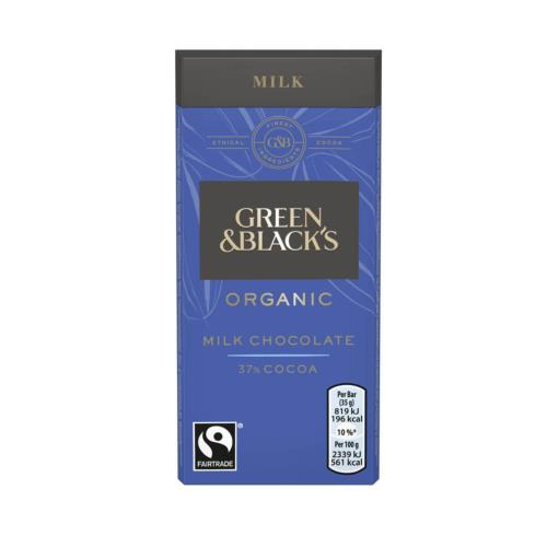 Green & Black's Small - Organic Milk Chocolate Bar (30x35g)