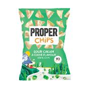 PROPERCHIPS - GF Sour Cream & Chive Lentil Chips (8x85g)