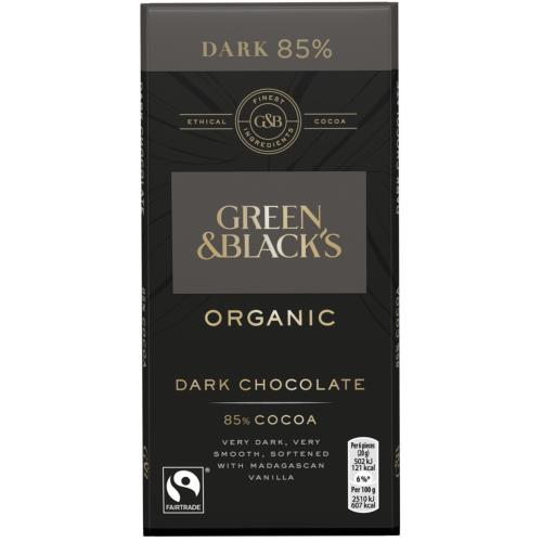 Green & Black's Organic Dark 85% Chocolate Bar (15x90g)