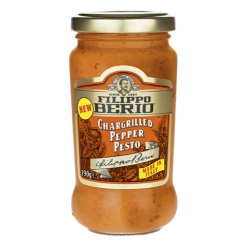 Filippo Berio - Chargrilled Pepper Pesto (6x190g)