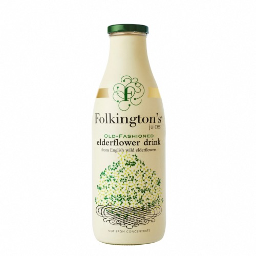 Folkington's Old Fashioned Elderflower Drink (6x1ltr)