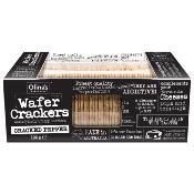 Olina's Bakehouse - Wafer Crackers 'Cracked Pepper' (12x100g