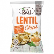 Eat Real GF - Lentil Chips Mango & Mint (10x113g)