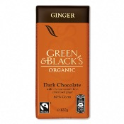 Green & Black's Organic Dark Chocolate Ginger Bar (15x100g)