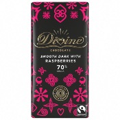 Divine - Dark Chocolate with Raspberries (15x90g)