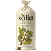 Kallo Rice Cakes GF - Organic Lightly Salted (12x130g)