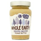 Whole Earth - Organic Smooth Peanut Butter (6x340g)
