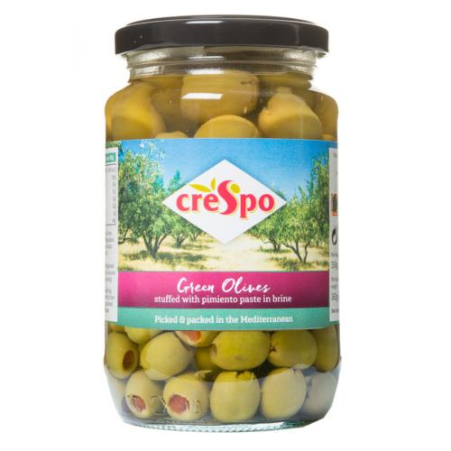 Crespo - Green Olives stuffed with Pimiento (8x354g)