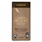 Green & Black's Organic Almond Chocolate Bar (15x100g)