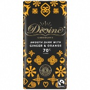 Divine - Dark Choc with Ginger & Orange (15x90g)