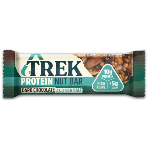 Trek - GF Protein Nut Bar 'Dark Choc & Sea Salt' (16x40g)