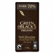 Green & Black's Organic Dark 70% Chocolate Bar (15x100g)