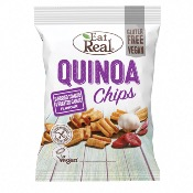 Eat Real GF - Quinoa Chips Tomato & Roasted Garlic (10x80g)